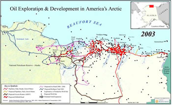 Arctic development map; credit - office of Sen. Richard Lugar